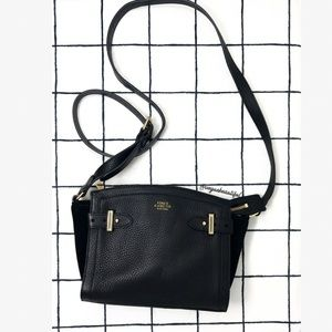 Vince Camuto Black Leather & Suede Robyn Crossbody